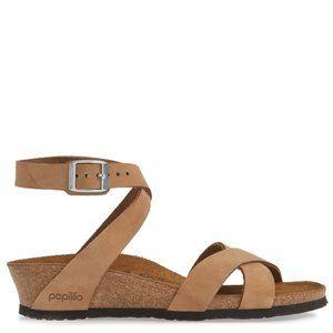 PAPILLIO BIRKENSTOCK Lola Ankle Wrap Wedge Sandal